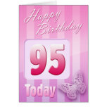 Happy 95th Birthday Grand Mother Great-Aunt Mum Greeting Cards