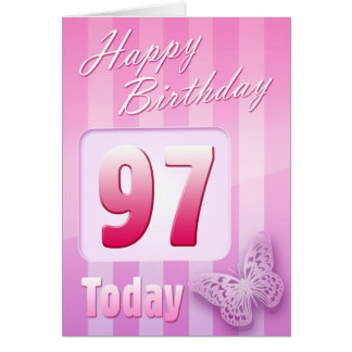 Happy 97th Birthday Grand Mother Great-Aunt Mum Greeting Card