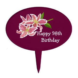 Happy 98th Birthday Cake Pick