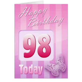 Happy 98th Birthday Grand Mother Great-Aunt Mum Greeting Card