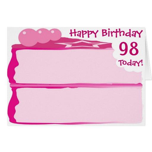 Happy 98th Birthday Greeting Card Zazzle