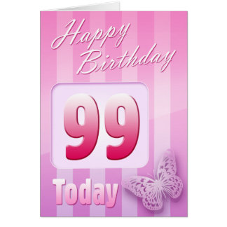 Happy 99th Birthday Grand Mother Great-Aunt Mum Greeting Card