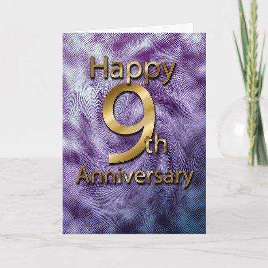Happy 9th Anniversary Anniversary Card Card Zazzlecouk