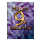 Happy 9th Anniversary (anniversary card) Card