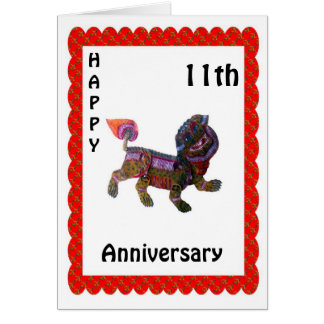Happy 9th Anniversary Card