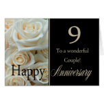 Happy 9th Anniversary roses Greeting Card