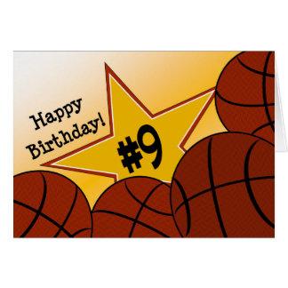 Happy 9th Birthday! Basketball Star Card