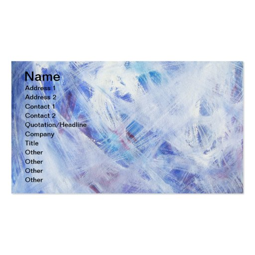 Happy abstract acrylic art painting business card