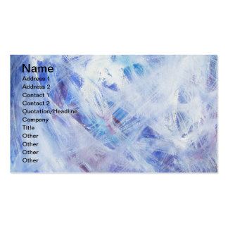 Happy abstract acrylic art painting pack of standard business cards