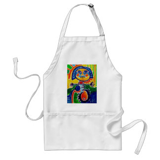 Happy Abstract Standard Apron