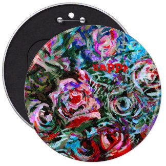 Happy Abstract Roses Button Badge