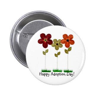 happy adoption day button