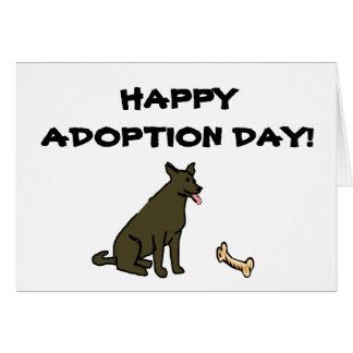 Happy Adoption Day Dog Card