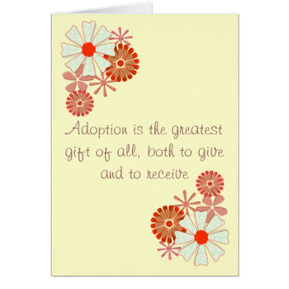 Happy Adoption Day Greetings Card Floral Design