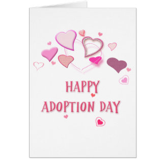 Happy Adoption Day Greetings Card with Lovehearts