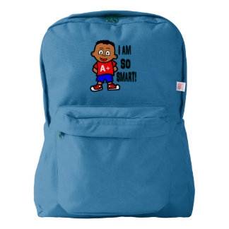 Happy African American Boy Backpack