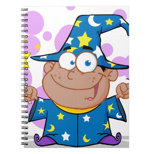 Happy African American Wizard Boy Journals