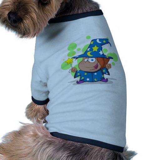 Happy African American Wizard Girl Pet T-shirt