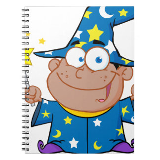Happy African American Wizard Spiral Notebook