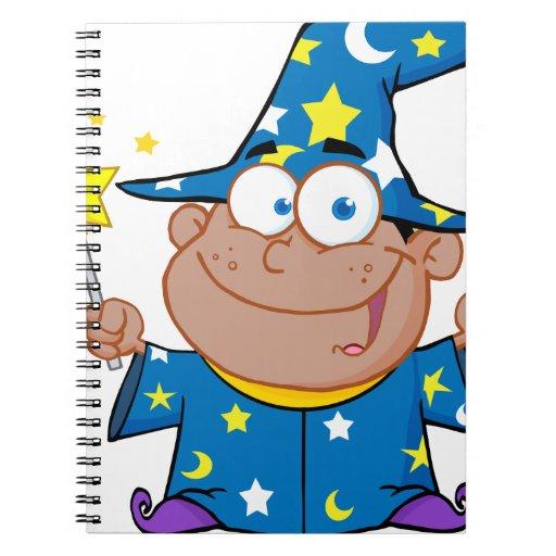 Happy African American Wizard Spiral Notebook