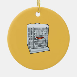 Happy Air Conditioner AC unit smiling Christmas Ornament