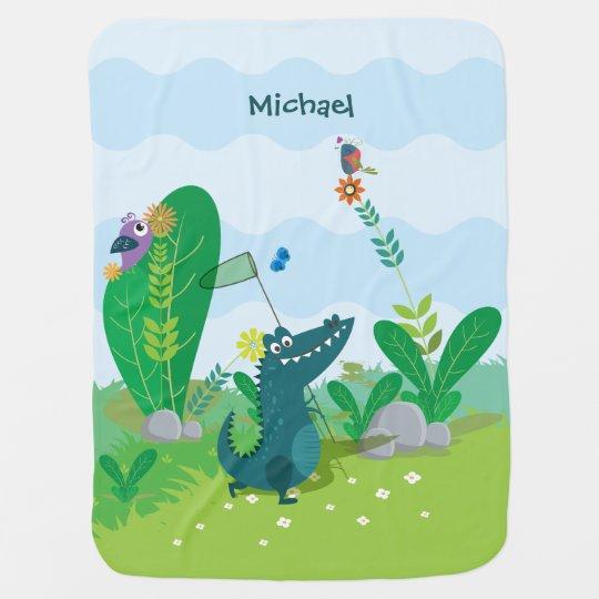 Happy Alligator Baby Blanket