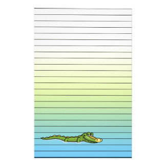 Happy Alligator Lined Paper