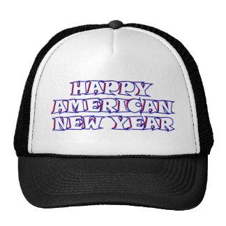 Happy American New Year Trucker Hats