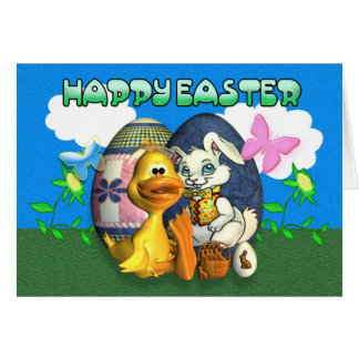 Happy and Blessed Easter Greeting Card