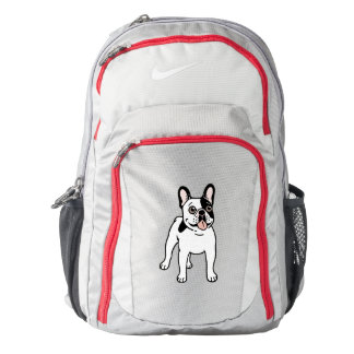 Happy and Fun Single Hooded Pied Frenchie Backpack