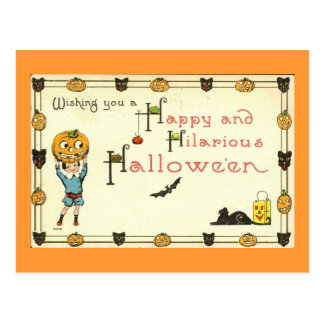 Happy and Hilarious Halloween Vintage Postcard