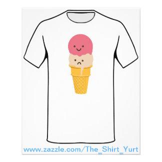 Happy and Sad Ice Cream Cone 11.5 Cm X 14 Cm Flyer