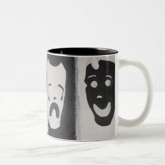 HAPPY AND SAD Two-Tone COFFEE MUG
