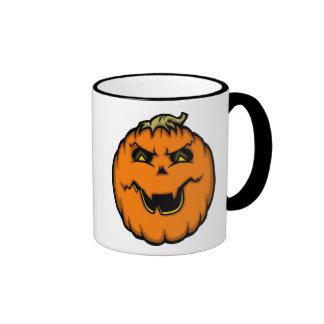 Happy/Angry Pumpkin Mug