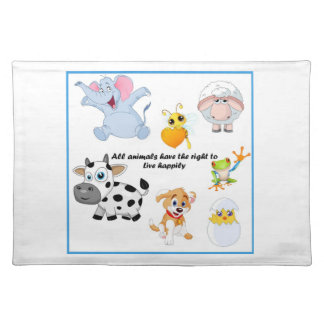 Happy Animals Place mat