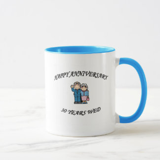 HAPPY ANNIVERSARY 30 MUG