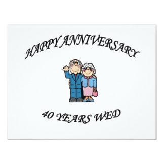 HAPPY ANNIVERSARY 40 copy Card