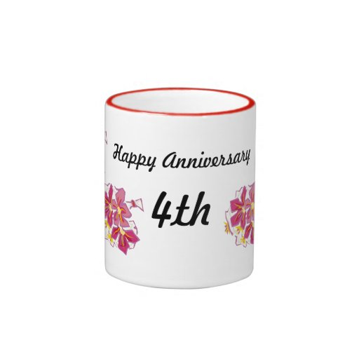 Happy Anniversary 4th Coffee Mug