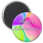 Happy Anniversary 6 Cm Round Magnet