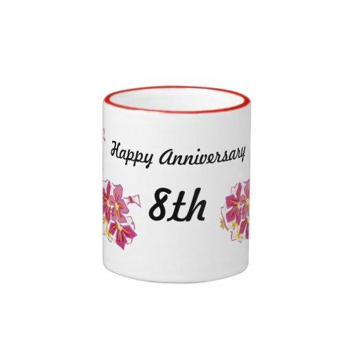 Happy Anniversary 8th Mug