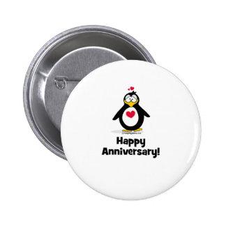 Happy Anniversary 6 Cm Round Badge