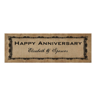 Happy Anniversary Banner Type Poster