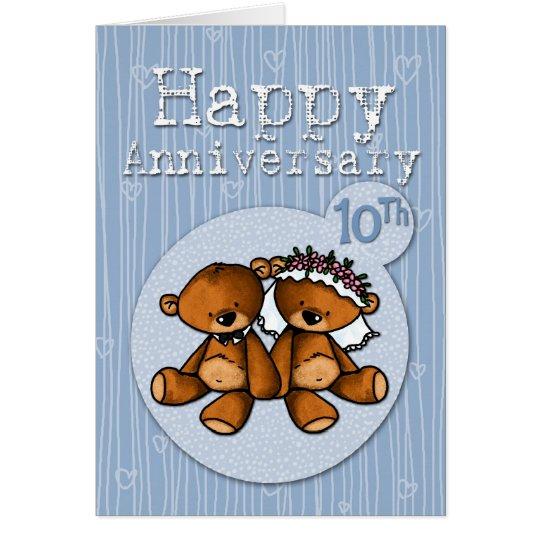 happy anniversary bears - 10 year card