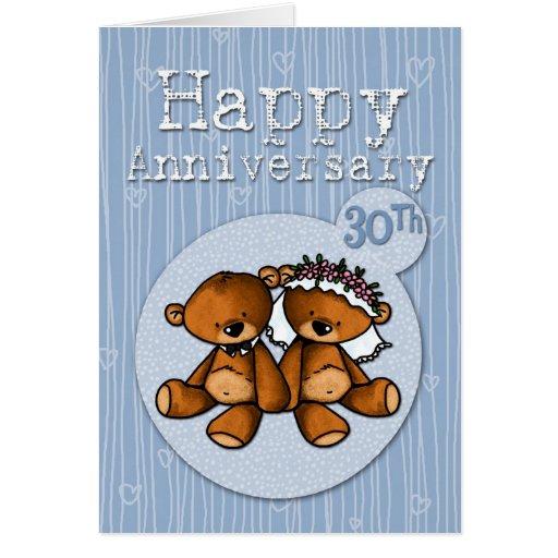 Happy Anniversary Bears  Year Greeting Card Zazzle