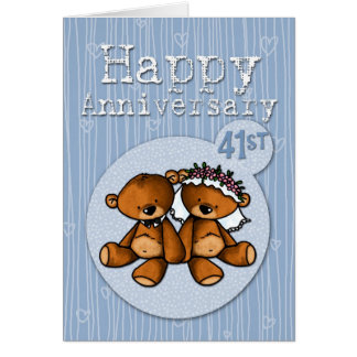 happy anniversary bears - 41 year card