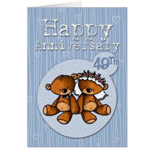 happy anniversary bears - 49 year card
