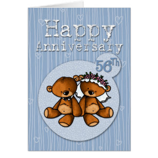 happy anniversary bears - 56 year greeting cards