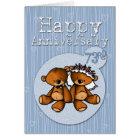 happy anniversary bears - 73 year card