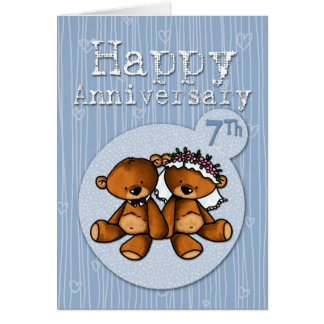 happy anniversary bears - 7 year card