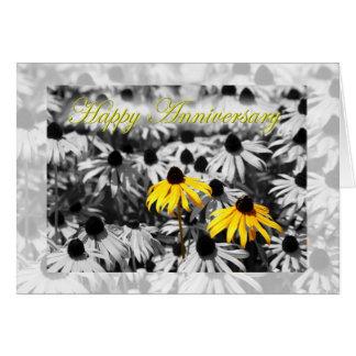 Happy Anniversary Black Eyed Susan Flowers Greeting Card